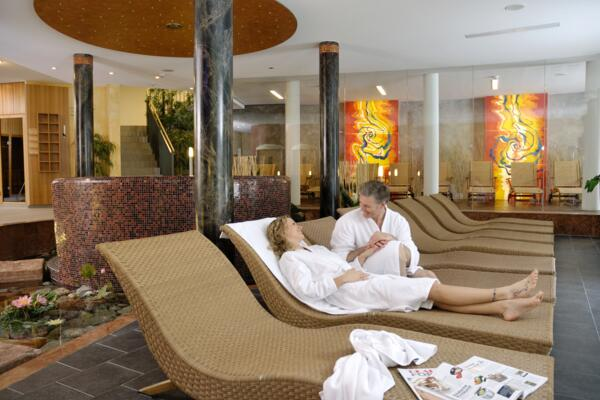 Inside view of the spa in the wellnesshotel in Wagrain