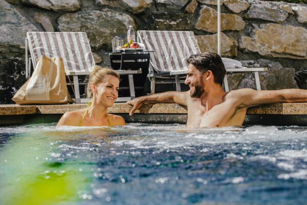 Outdoor pool with relaxing water massage