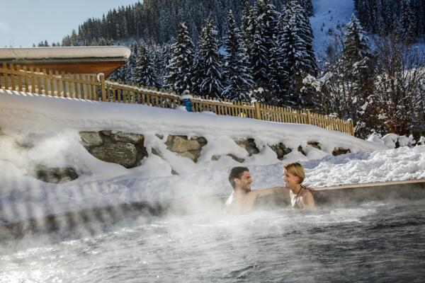 Heated Outdoor pool in Winter